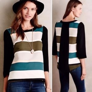 Anthro Troubadour Rugby Stripe Blouse size 2